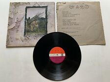 Led Zeppelin IV Untitled Vinyl LP 2401012 VG Condition 1971 Version 2 Red Maroon