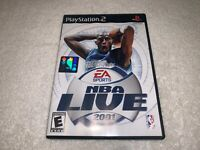 NBA Live 2001 (Sony PlayStation 2, 2001) PS2 Complete Excellent~