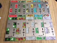 (10) Vintage Casino Card Dealer Aluminum Board Deck Holders + Complete Card deck