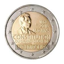 2 Euro Luxemburg 2018  150 Jahre Verfassung Münzzeichen Löwe