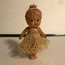 Vintage Celluloid Doll with Crochet Dress