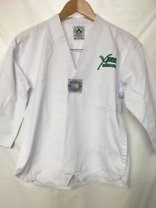 X XCEL TAEKWONDO UNIFORM WHITECWITH BELT SZ 1(150cm)