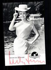 Monika Grimm Autogrammkarte Original Signiert ## BC 31586