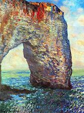 CLAUDE MONET ROCKY CLIFFS OF ETRETAT (LA PORTE MAN) OLD PAINTING PRINT 637OMLV