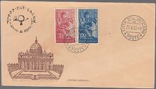 VATICANO VATICAN BUSTA FRA ANGELICO ARIMINUM FDC 1955 VEDI FOTO FIRST DAY COVER