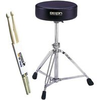 Dixon PSN9280 Drum-Hocker Rundsitz stufenlos + KEEPDRUM Drumsticks
