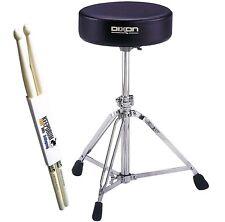 Dixon PSN9280 Drum-Hocker Rundsitz stufenlos + KEEPDRUM Drumsticks