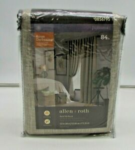 1 Panel NEW 84-in Linen Polyester Room Darkening Thermal Lined Back Tab Single