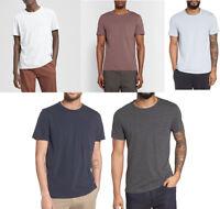 New Theory Essential Pocket Cotton Crew Tee Short Sleeve T-shirt XS S M L XL XXL