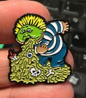 GPK enamel pin Richie Retch Garbage Pail Kids retro 80s hat lapel bag puke barf
