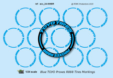 [FFSMC Productions] 1/24 Decals Blue TOYO PROXES R888 markings for tires (x12)