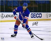 "K'Andre Miller New York Rangers Signed 16"" x 20"" NHL Debut Skating Photo"