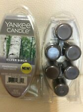 Yankee Candle Silver Birch Fragranced Wax Melts 2 Pkgs NEW! Gray Forest