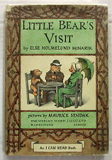 Little Bear's Visit Minarik & Maurice Sendak 1st UK HCDJ 1962 Caldecott Honor Bk