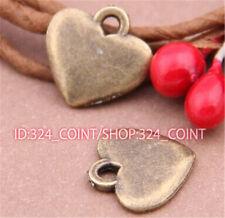 P558B 100pc Antique Bronze heart Pendant Bead Charms Accessories wholesale