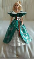 Holiday Barbie 1996 Christmas Stocking Hanger Green Dress - Brand New in Box