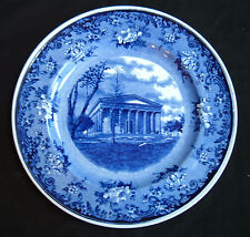 Minton Flow Blue Girard College Philadelphia Plate Transferware ~ Excellent!