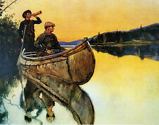 Philip R Goodwin Call of the Moose  - Print Canvas Giclee Art Repro 11x14
