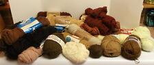 Lot of 22 + Skeins of Yarn Leeward Orlon Virgin Wool Sports Yarn