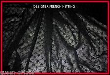 DIAMOND FISHNETIMPORTED JET BLACK DESIGNER DIAMOND FINE NET LACE
