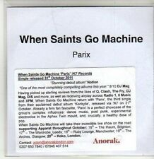 (CS836) When Saints Go Machine, Parix - 2011 DJ CD