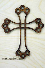 Holy Trinity Cross, Handmade Wood, for Wall Hanging or Ornament, Item S1-10