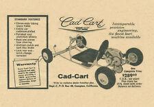 Vintage 1960 Cad Cart Go-Kart Ad