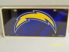 NFL licensed San Diego Chargers football metal car or truck license plate New!!