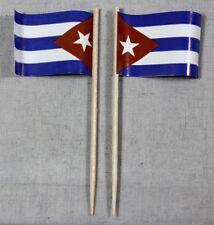 Party-Picker Kuba 50 St. Profiqualität Dekopicker Flagge Papierfähnchen