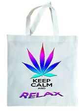 CANNABIS LEAF Keep Calm and Relax re-usable, light weight gift bag shopper