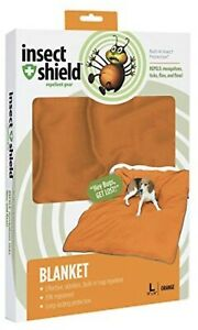 Insect Repellent Dog Blanket Orange Large Chemical Free Insect Shield Repellent