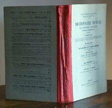 DICTIONNAIRE MUSICAL DES LOCUTIONS ETRANGERES par Rougnon 1898 - MUSIQUE