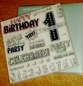 CTMH S1803 BIRTHDAY TIME ~ 1 Year Older, SUPER Birthday Party, numbers,CELEBRATE