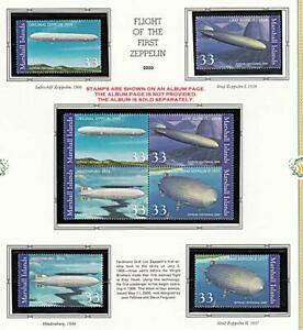 👉 MARSHALL IS. 2000 FIRST ZEPPELIN mnh AVIATION