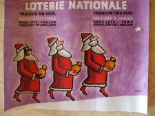 affiche  originale SAVIGNAC loterie nationale pere noel rois mages petit format