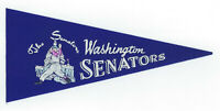 "1960's Washington Senators 9"" mini pennant vintage original"