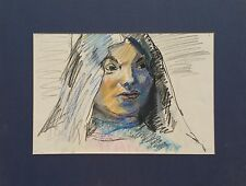 "Michael Steiner ""Woman Series #1"", Original Pastel,11""h x 17""w image"