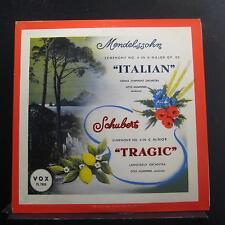 Mendelssohn, Schubert, Klemperer - Symphony No. 4 In A Italian LP VG+ PL 7860