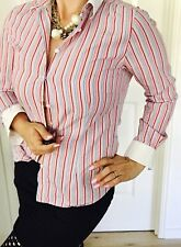 RM WILLIAMS WOMENS SHIRT STRIPED COTTON TAILORED SEMI FITTED SZ 8