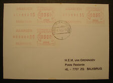 Nederland 1982: etichetta COVER, ATM tasso variabile Metri STAMPS + 0000-STAMPA-RARE!
