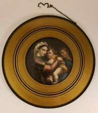 "Antique Flue Cover - Mother and Children - 8 5/8"" Frame"