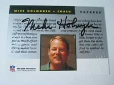 1992 Pro Line Portraits MIKE HOLMGREN Green Bay Packers Autograph Football Card