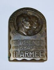 AUSTRIAN/German - 11 ARMEE Cap Badge. Weltkrieg 1914-15. Maker Marked.