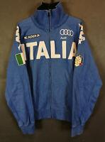 MEN'S TEAMSKIWEAR KAPPA ITALIA ITALY ALPHINE TEAM FISI SKI JACKET BLUE SIZE M