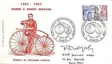VELOCIPEDE MICHAUX ENVELOPPE PREMIER JOUR FIRST DAY COVER SIGNATURE DELPECH 1983