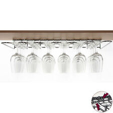 Wineware Wine Glass Storage Hanging Rack Dual Fix (Chrome Plated Steel)