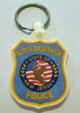 VINTAGE NORTH BRUNSWICK NEW JERSEY POLICE RUBBER TYPE KEY CHAIN