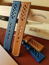 Sport watch strap,Blue Red Brown Black 22mm 20mm 18mm 19mm 17mm Buttero Leather