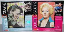 LOT OF 2 Quote O Graphs MARILYN MONROE & ELVIS PRESLEY 1000 Pcs Puzzle NEW