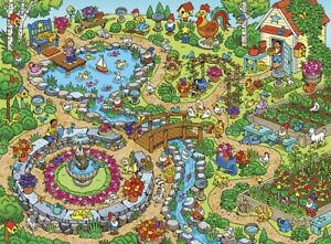 Jigsaw puzzle Seek and Find 101 Things in the Garden 101 Piece NEW